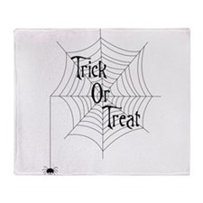 Trick Or Treat Spider Throw Blanket