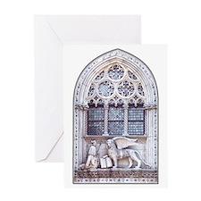Catholic Saint Mark and Winged Lion Greeting Card