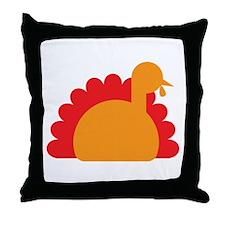 Cute Turkey simple Throw Pillow