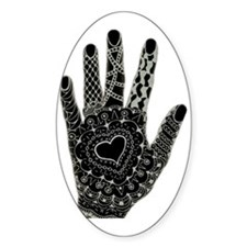 Henna Style Doodled Hand Decal