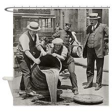 Police Raiding Bootleg Liquor, 1921 Shower Curtain