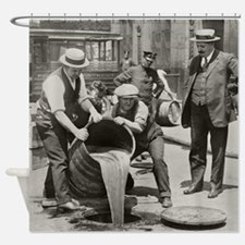 Police Raiding Bootleg Liquor, 1921 Shower Curtain
