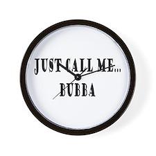 Call Me Bubba Wall Clock