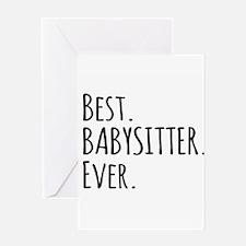 Best Babysitter Ever Greeting Cards