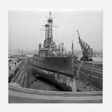 Brooklyn Navy Yard Dry Dock Tile Coaster