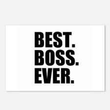 Best Boss Ever Postcards (Package of 8)