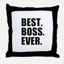 Best Boss Ever Throw Pillow