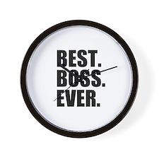 Best Boss Ever Wall Clock