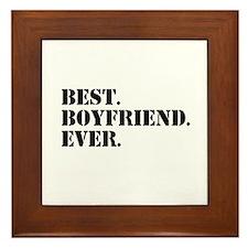 Best Boyfriend Ever Framed Tile