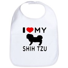 I Love My Dog Shih Tzu Bib