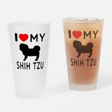 I Love My Dog Shih Tzu Drinking Glass