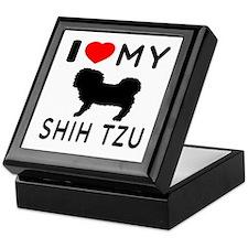 I Love My Dog Shih Tzu Keepsake Box