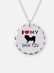 I Love My Dog Shih Tzu Necklace