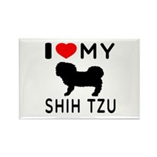 I Love My Dog Shih Tzu Rectangle Magnet (10 pack)