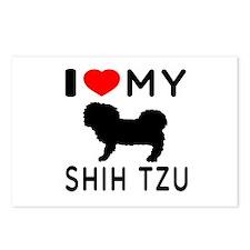 I Love My Dog Shih Tzu Postcards (Package of 8)