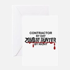 Zombie Hunter - Contractor Greeting Card