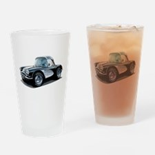 BabyAmericanMuscleCar_60KorvT_Black Drinking Glass