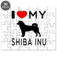 I Love My Dog Shiba Inu Puzzle