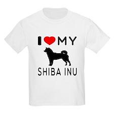 I Love My Dog Shiba Inu T-Shirt