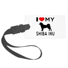 I Love My Dog Shiba Inu Luggage Tag