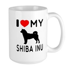 I Love My Dog Shiba Inu Mug
