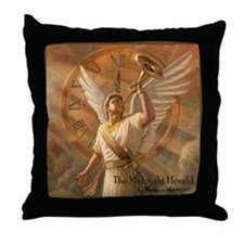 "Angel ""Midnight Herald"" Fine Art Pillow"