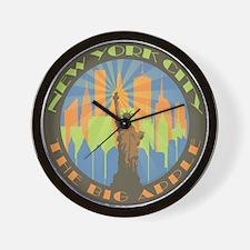 NYC Big Apple beachy Wall Clock