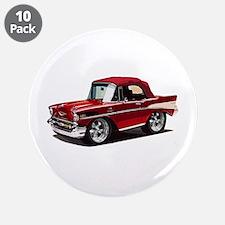 "BabyAmericanMuscleCar_57BelR_Red 3.5"" Button (10 p"