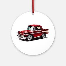 BabyAmericanMuscleCar_57BelR_Red Ornament (Round)