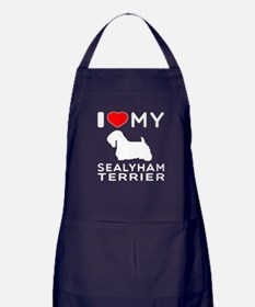 I Love My Dog Sealyham Terrier Apron (dark)