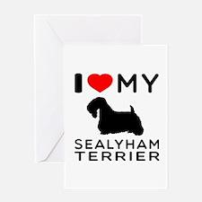 I Love My Dog Sealyham Terrier Greeting Card