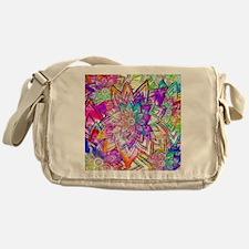 Colorful Vintage Floral Pattern Draw Messenger Bag