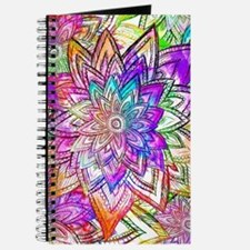 Colorful Vintage Floral Pattern Drawing Wa Journal