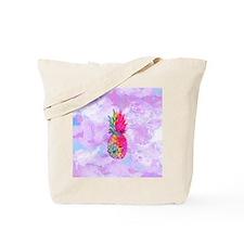 Bright Neon Hawaiian Pineapple Tropical W Tote Bag
