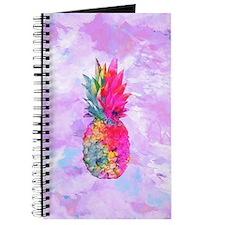 Bright Neon Hawaiian Pineapple Tropical Wa Journal