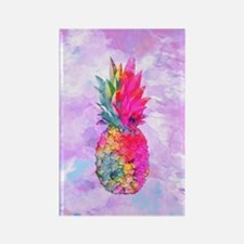 Bright Neon Hawaiian Pineapple Tr Rectangle Magnet