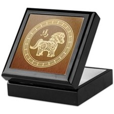 2014 New Year Chinese Wooden horse Keepsake Box