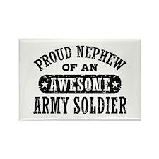 Proud Army Nephew Rectangle Magnet