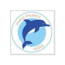 """Philbrick School Square Sticker 3"""" x 3"""""""