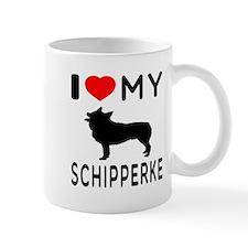 I Love My Dog Schipperke Mug