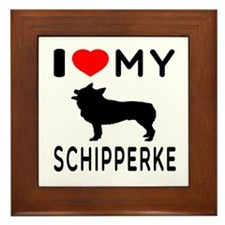 I Love My Dog Schipperke Framed Tile