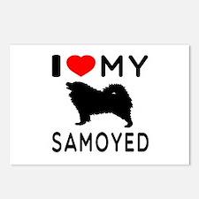 I Love My Dog Samoyed Postcards (Package of 8)