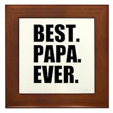 Best Papa Ever Framed Tile