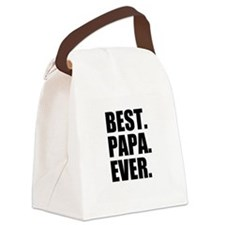 Best Papa Ever Canvas Lunch Bag