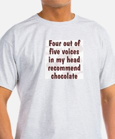 Chocolate Voices Ash Grey T-Shirt