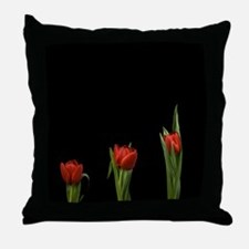 Stylish And Modern Tulips Throw Pillow