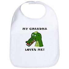 My Grandma Loves Me Alligator Bib