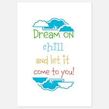 Dream on, chill quote Invitations