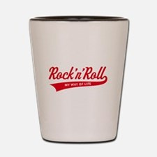 Rock 'n' Roll – My Way Of Life (Red) Shot Glass