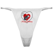 Possum Valentines Day Heart Classic Thong